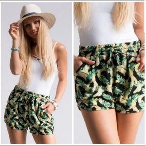 🌴Tropical Banana Leaf Shorts